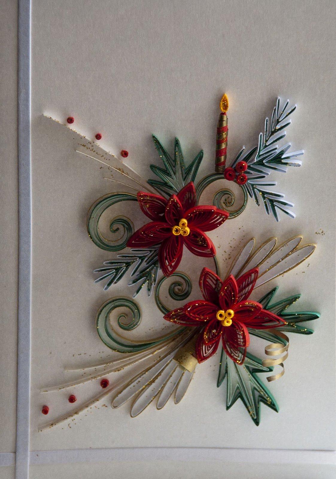 Приколы, новогодние открытки в стиле квиллинг своими руками