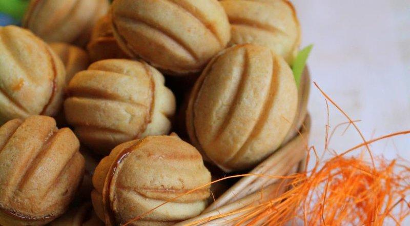 пошаговый рецепт орешков со сгущенкой фото