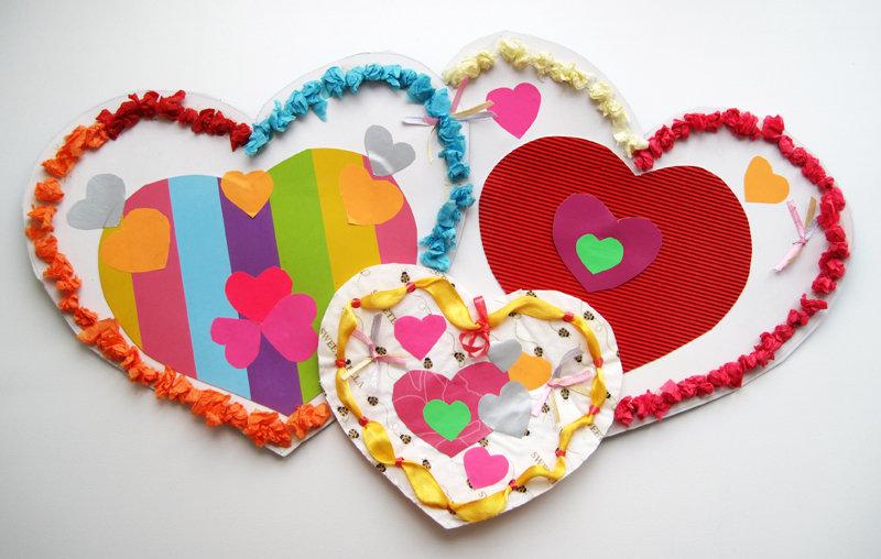 Валентинки открытки поделка, летие