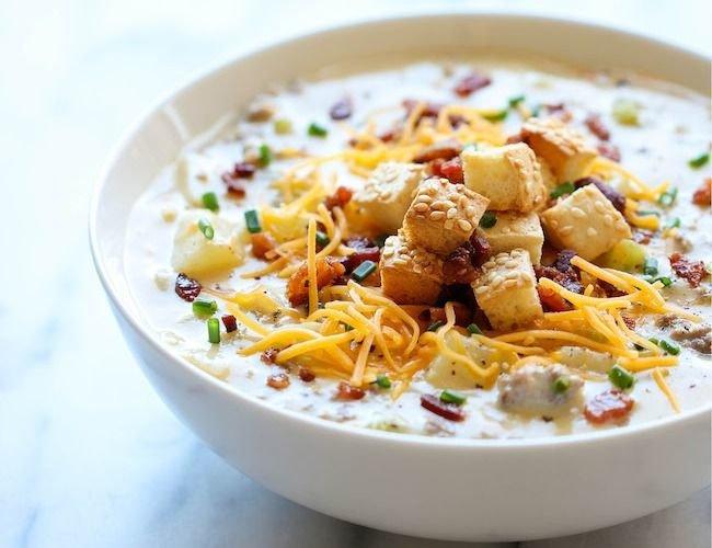 Густой сырный суп