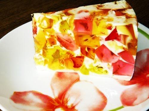 Торт Битое стекло рецепт Выпечка и десерты.   Торт битое стекло Это легкий бисквитно-желейный торт.
