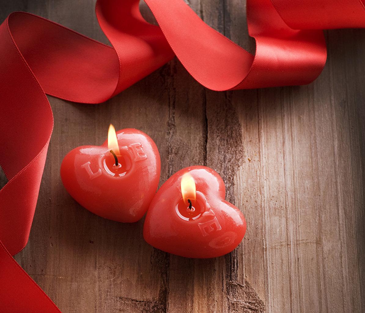Днем, картинка с 2 сердцами