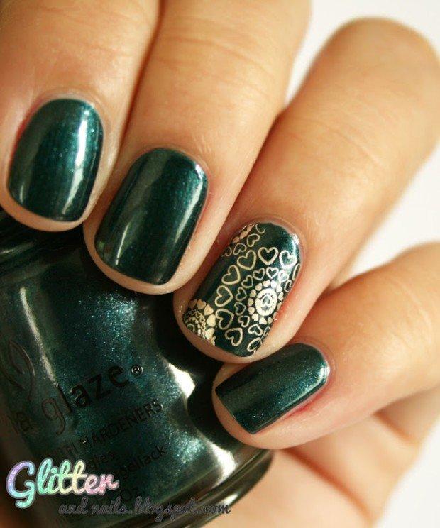 Зеленый дизайн ногтей фото новинки