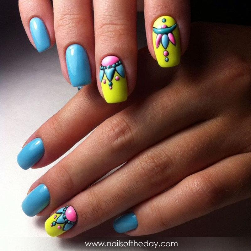 Ногти с негативным пространством 4