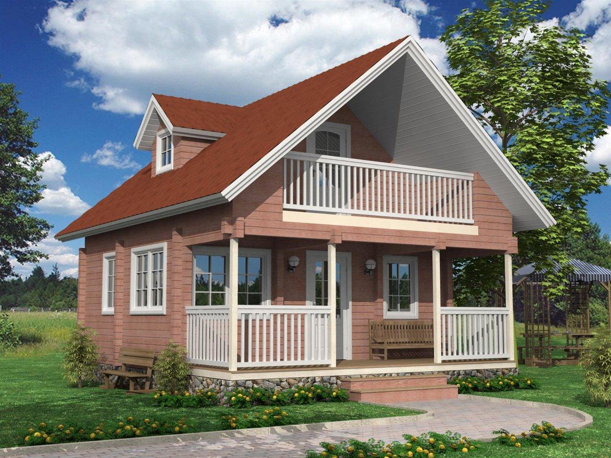 проекты небольших домов с балконом фото знаке лось там