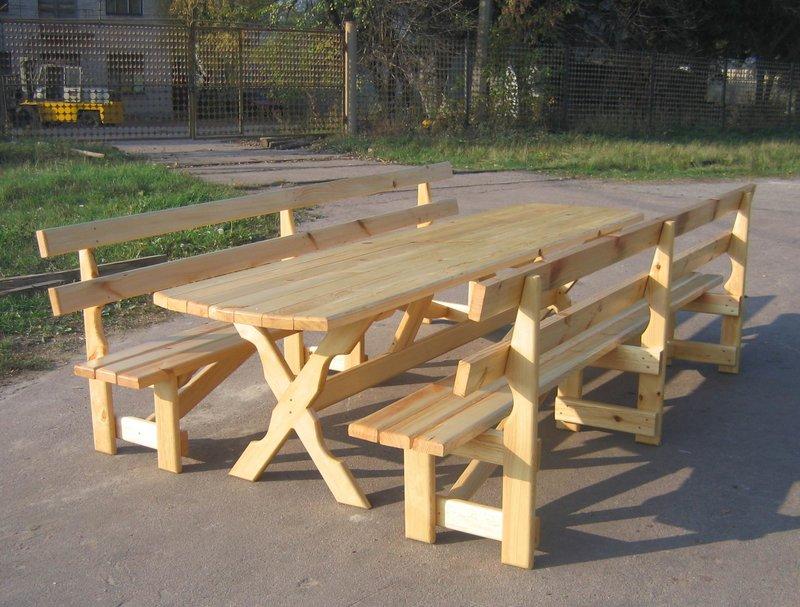 Как сделать стол с лавками для беседки