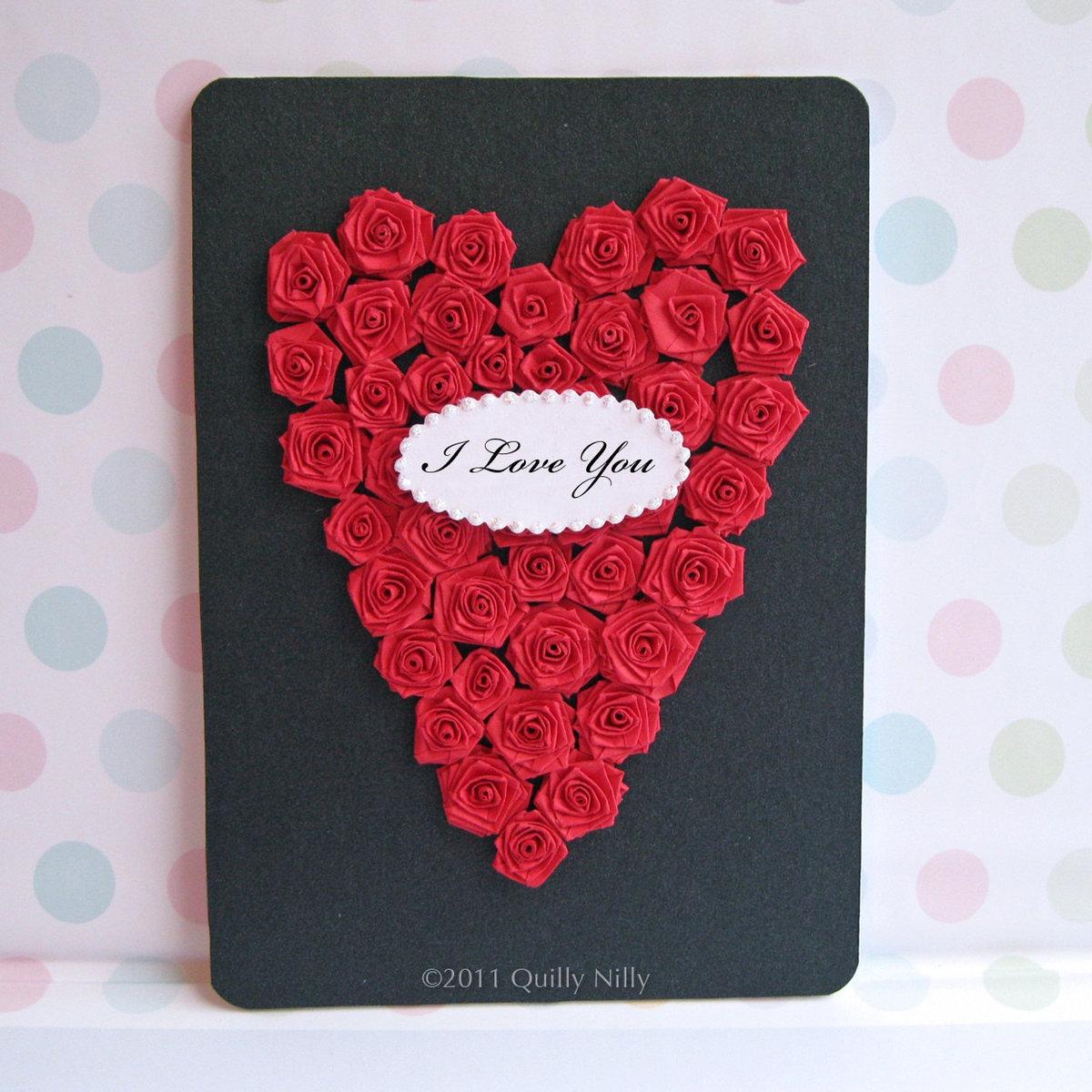 открытка с розами на день матери своими руками следим
