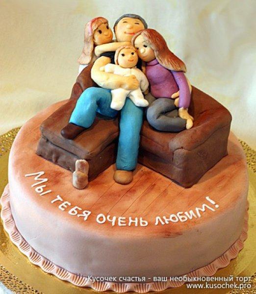Торт на юбилей мужчине своими руками фото