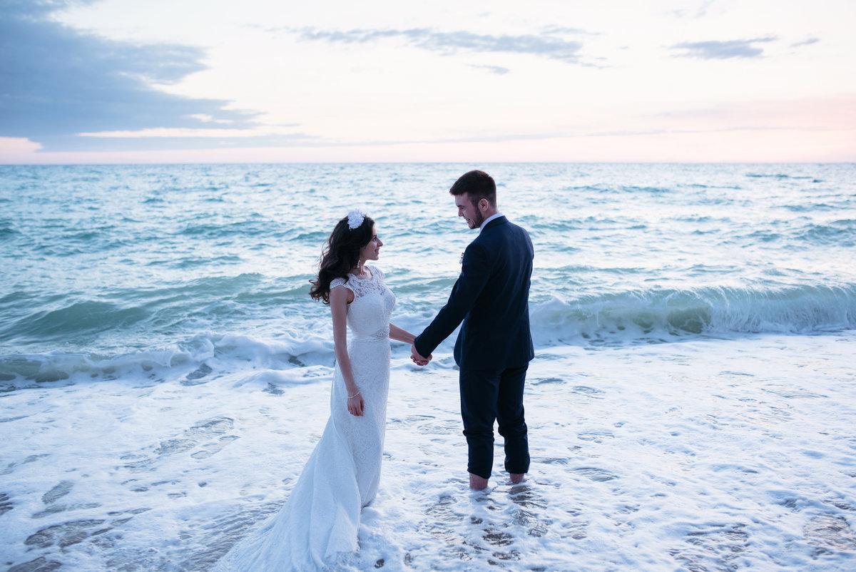 был фотографии свадебных пар на море ранее невеста певца