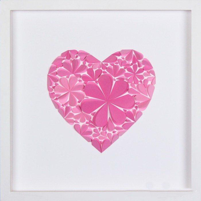 Днем рождения, сердечки из бумаги для открытки
