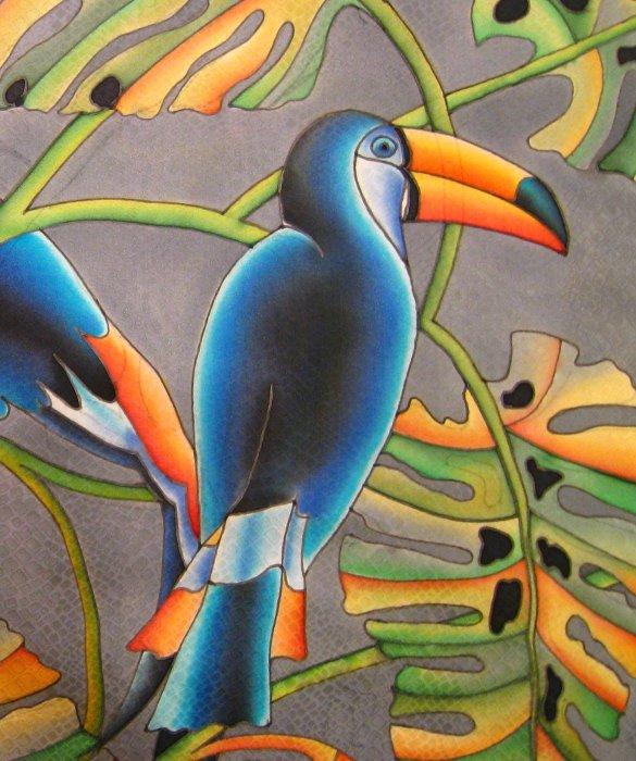 фото батик птицы момент опасности