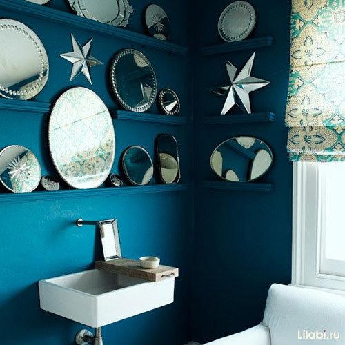 Украсить стену в ванной