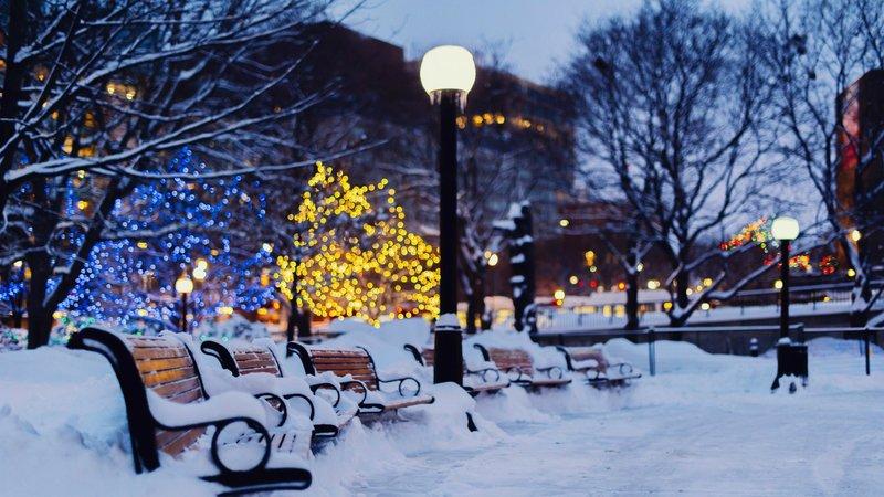 Зимний сквер в Оттаве