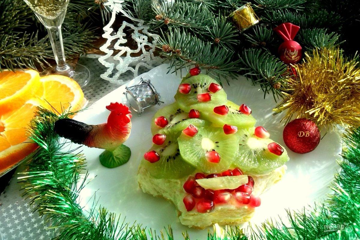 простой елка с фруктами картинка радостный яркий