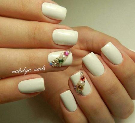 Идеи дизайна ногтей гель лаком на короткие ногти 24