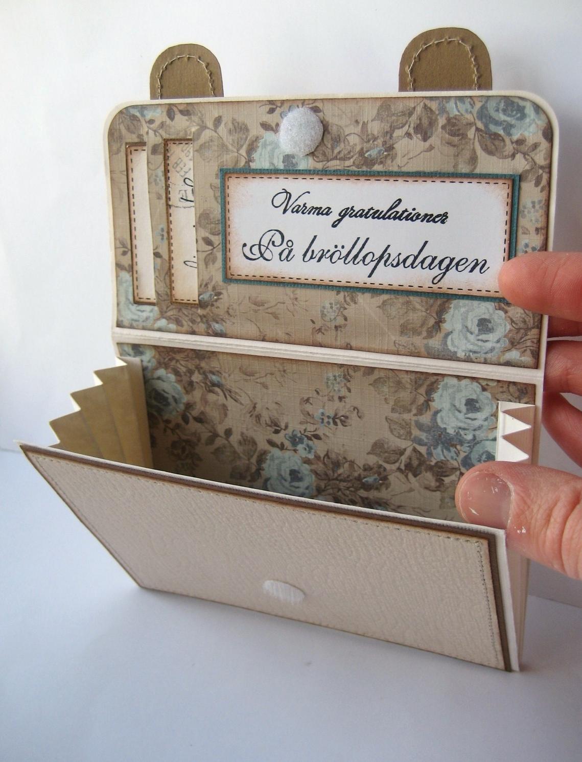 Карандаш, открытка внутри для денег