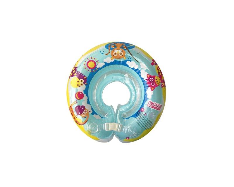 Для обеспечения большей безопасности, круг состоит из 2-х камер, комплектуется пластиковой застежкой и липучкой. В одной из камер расположены 2 шарика, которые издают приятный звук и привлекают внимание ребенка.