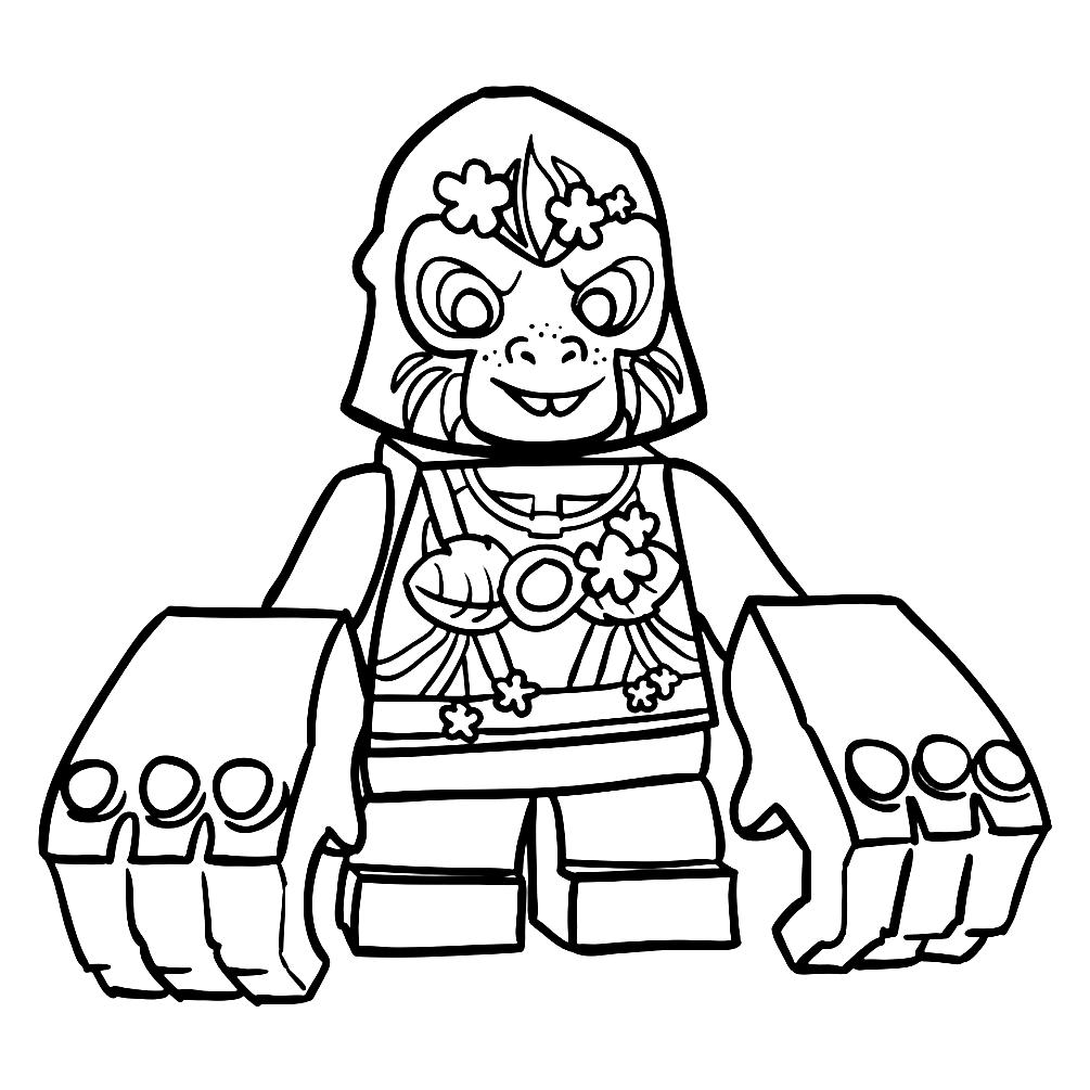 распечатать раскраски лего чима - 13