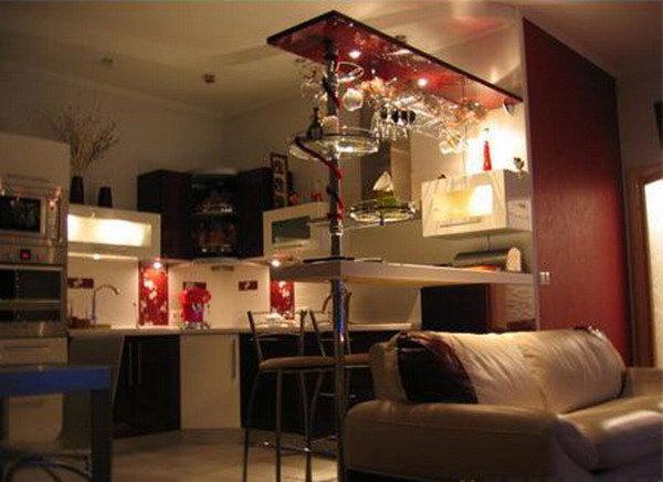 Варианты дизайна кухни совмещенной с гостиной 76