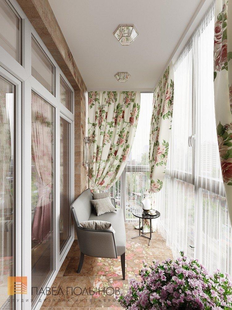 """Балкон в проекте """"дизайн интерьера четырехкомнатной квартиры."""