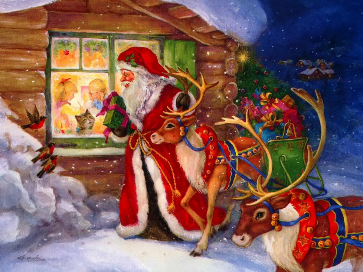 Дед мороз новогодние картинки, как