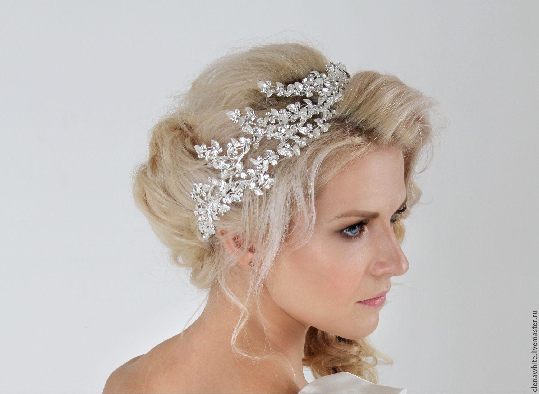 Свадебные украшения для волос: фото аксессуаров в прически 26