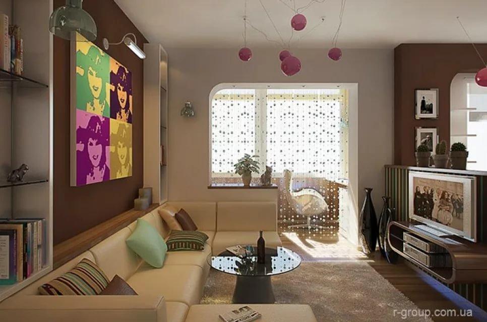 """Дизайн маленькой квартиры в стиле """"диско"""".."""
