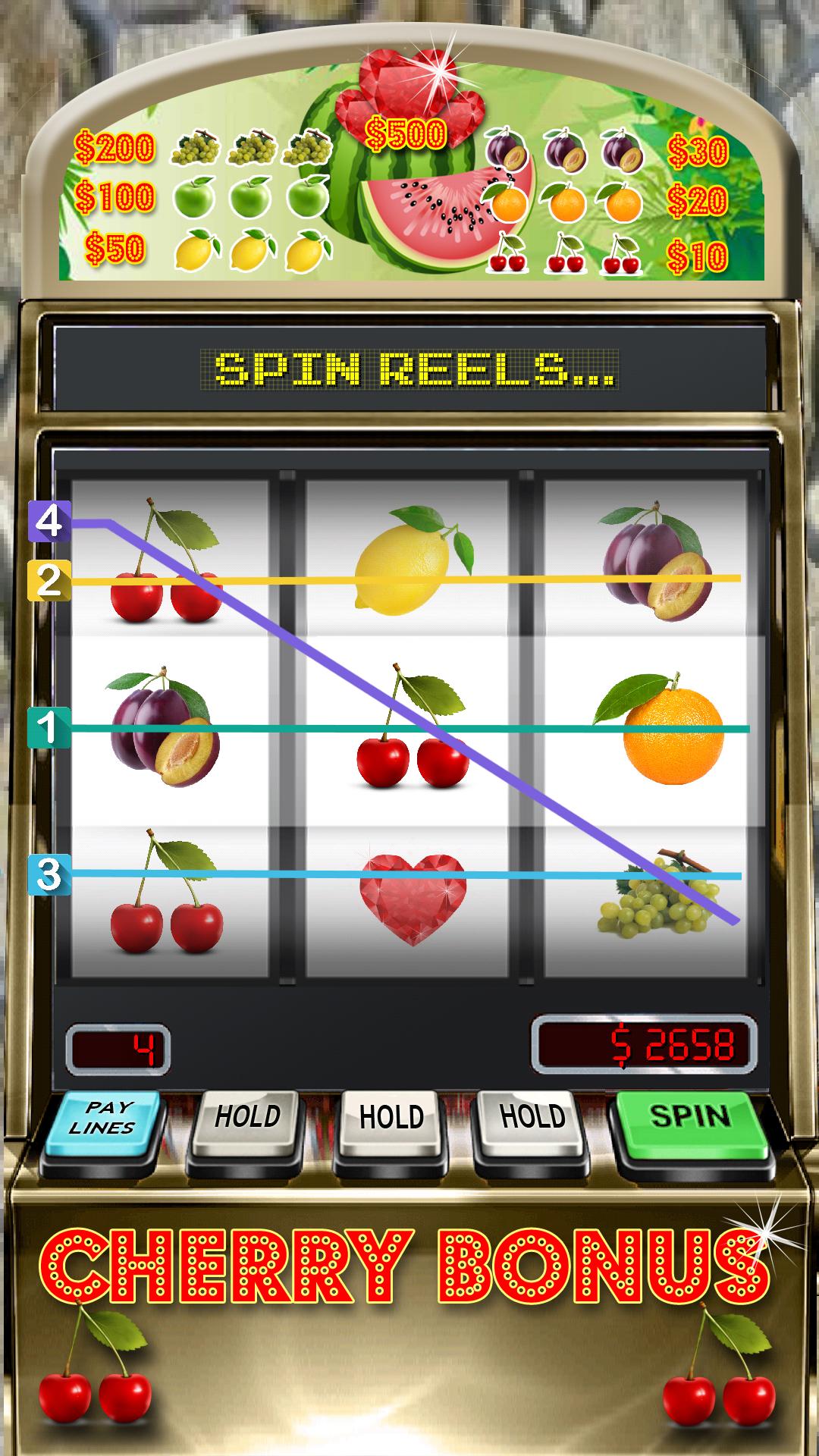 Bonus cherry slot machine