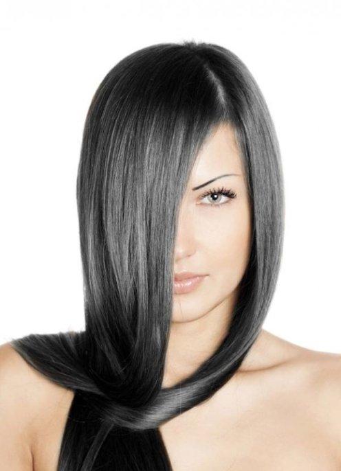 Пепельно черный цвет волос фото