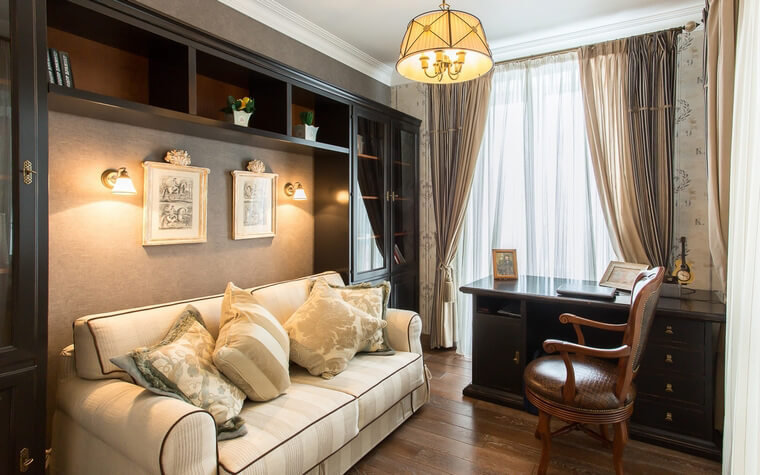 Правильное освещение играет огромную роль в интерьере домашнего кабинета и дальнейшем рабочем процессе в нем.