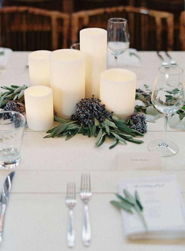 Украшение стола цветами и свечами - дизайн интерьера