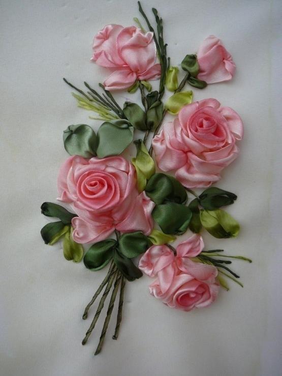 Платья открытку, вышивка лентами картинки розы