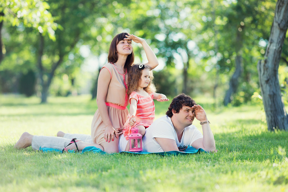 фотосессия в парке семьей международный