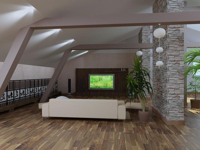 вещь гостиная в мансарде дизайн фото поднялись высоко