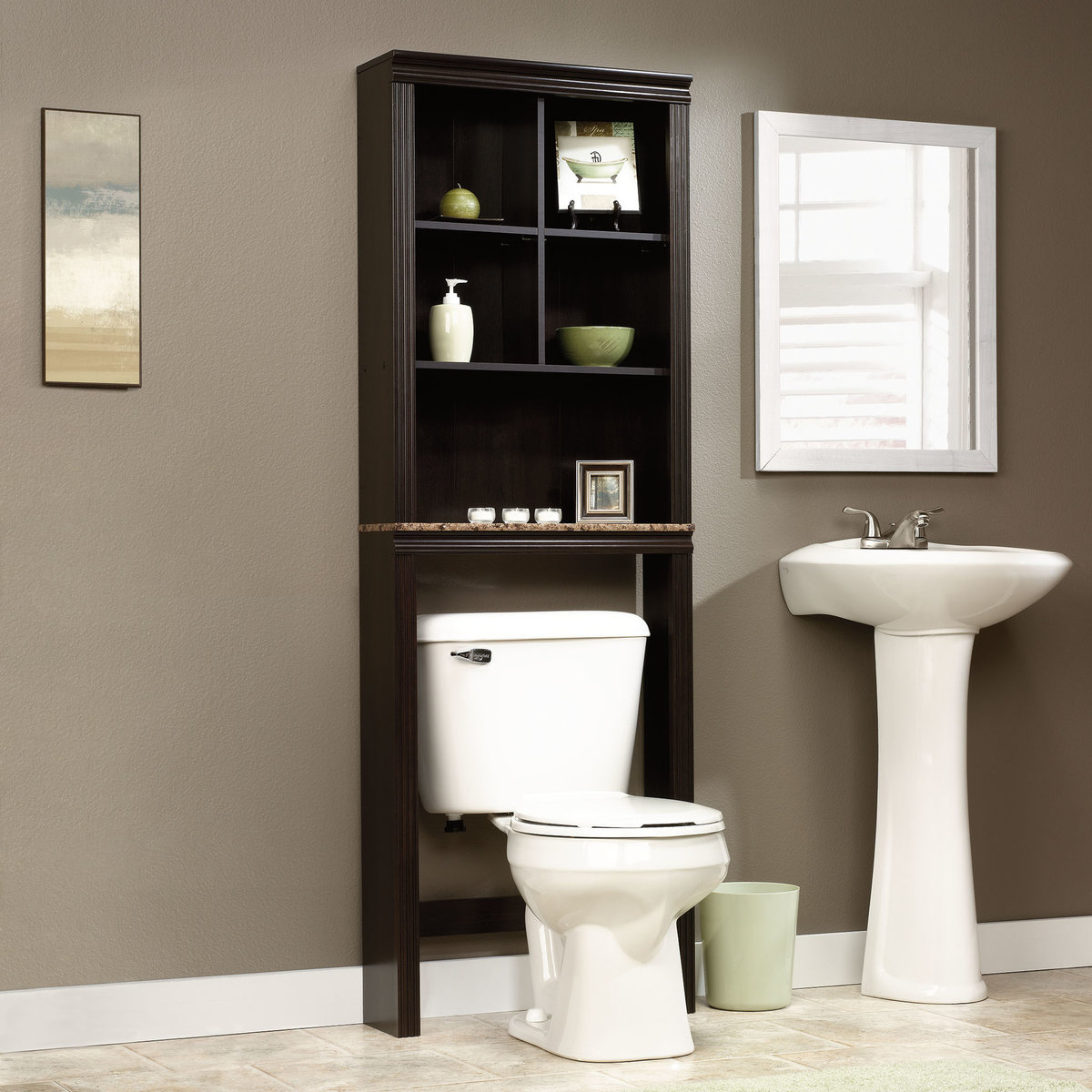 white wooden tower bathroom shelves cabinet with glass do