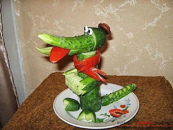 поделки из овощей фото в садик