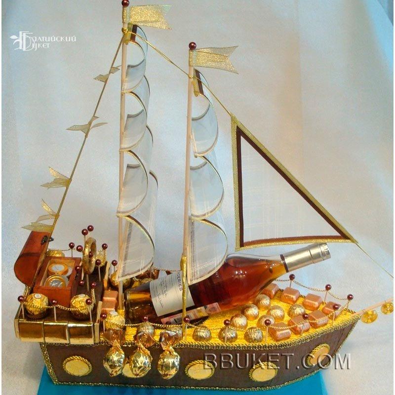 имеет подарочный корабль из конфет своими руками фото свою