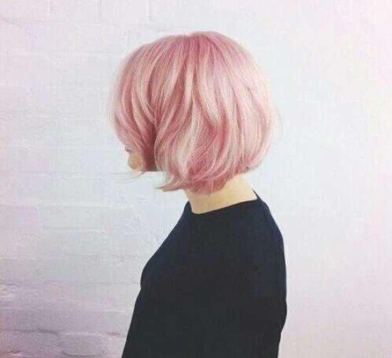Короткие розовые волосы фото