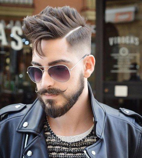 Прически мужские фото с бородой