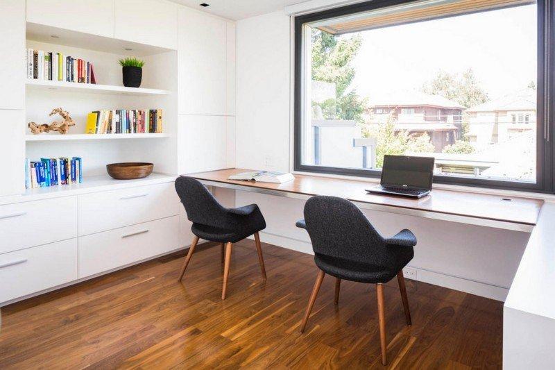 Чистые линии в современном дизайне  домашний кабинет в шведском стиле