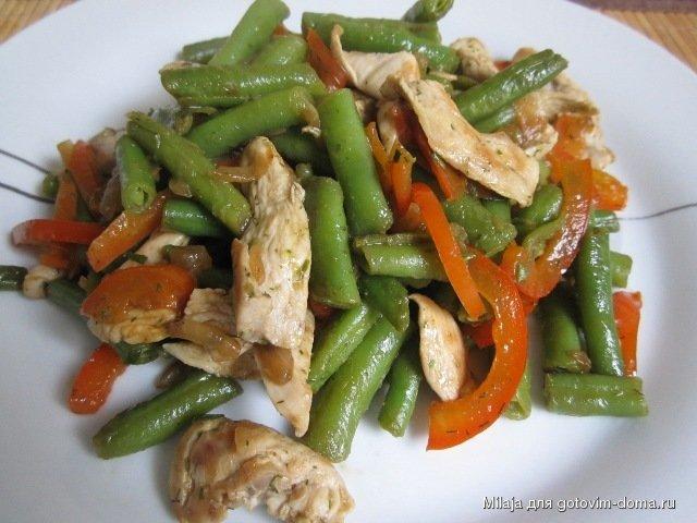 Фото-рецепт салат с стручковой фасолью