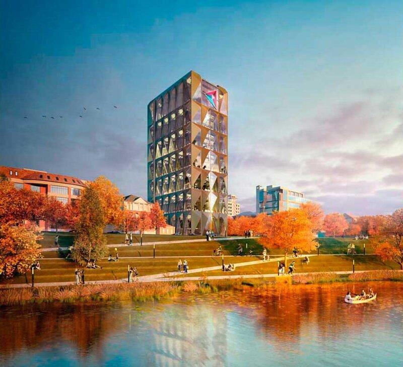 Проект офисного здания в Екатеринбурге