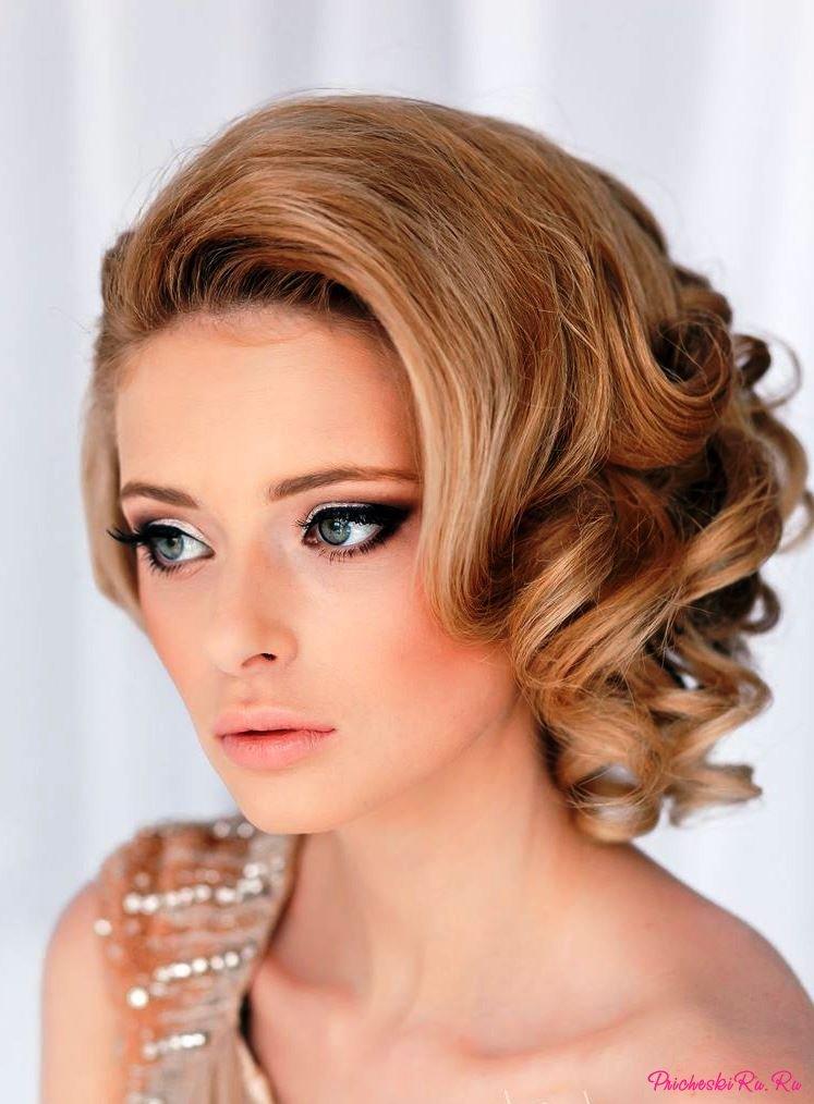 Прическа на короткие волосы для матери невесты 150