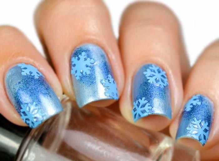 картинки со снежинками на ногтях альфу