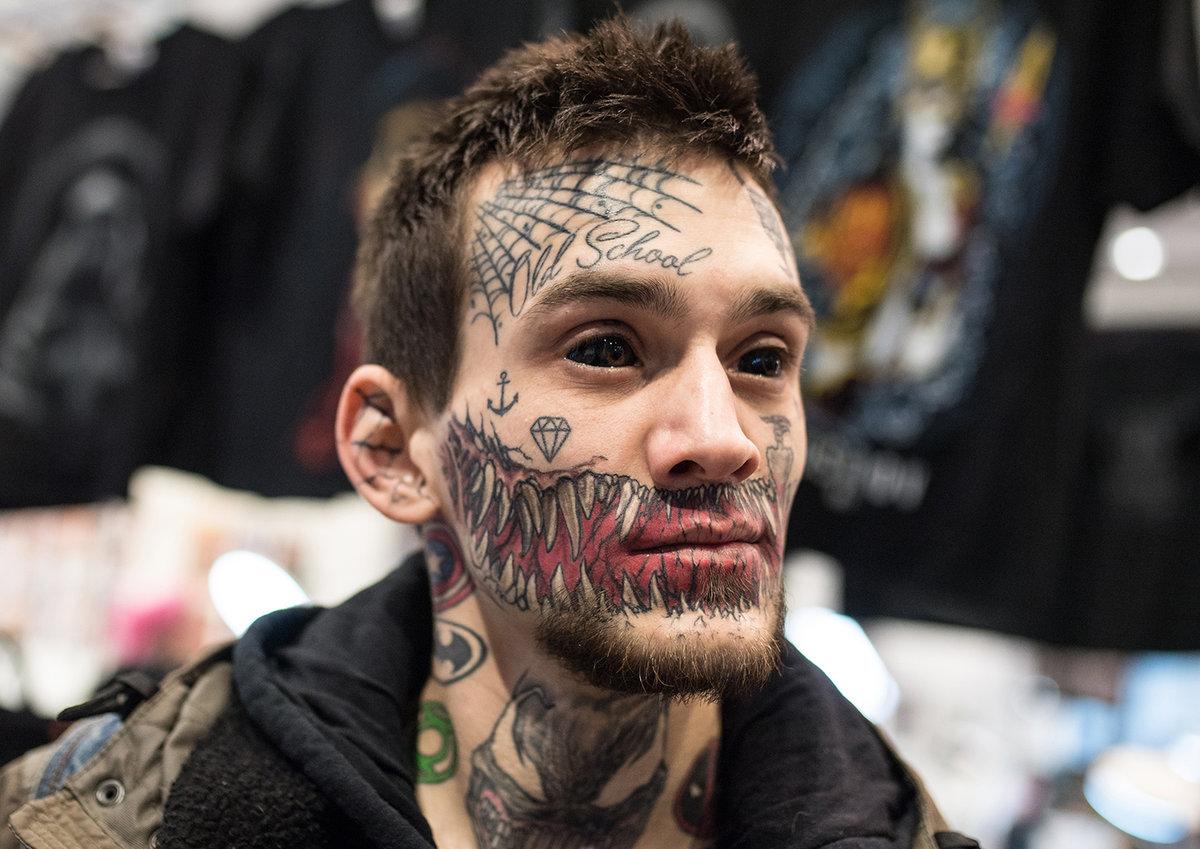 Facial tattoo 6