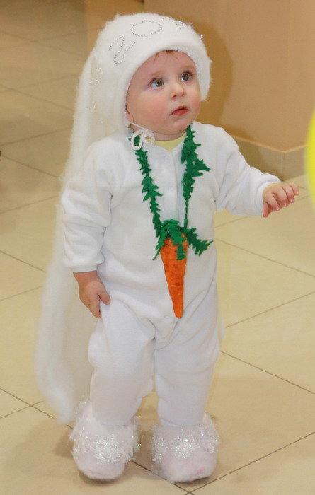 Новогодний костюм зайчика своими руками