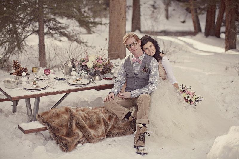 Уютная зимняя свадьба для шестерых гостей