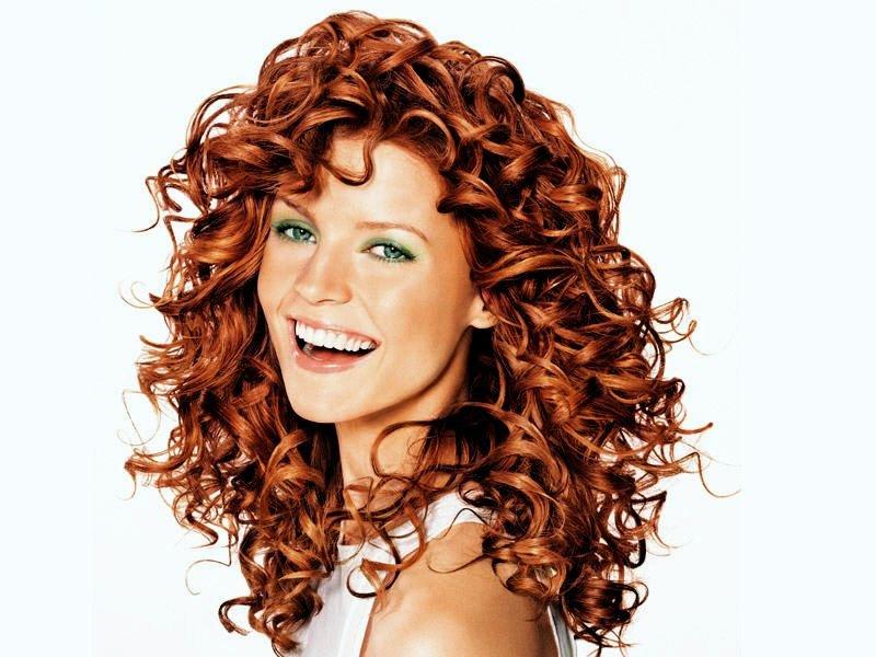 Химическая завивка на рыжие волосы