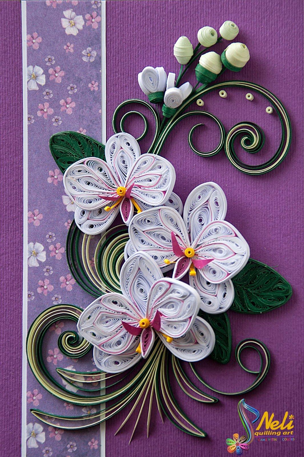 Открытки из квиллинга цветы, добавить