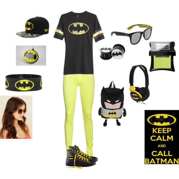57a4558f919f Batman SWAG !! - Polyvore A fashion look from July 2012 featuring DC ...